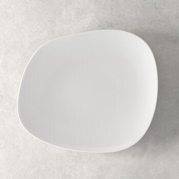 Organic White plato llano de 28 x 24 x 3 cm
