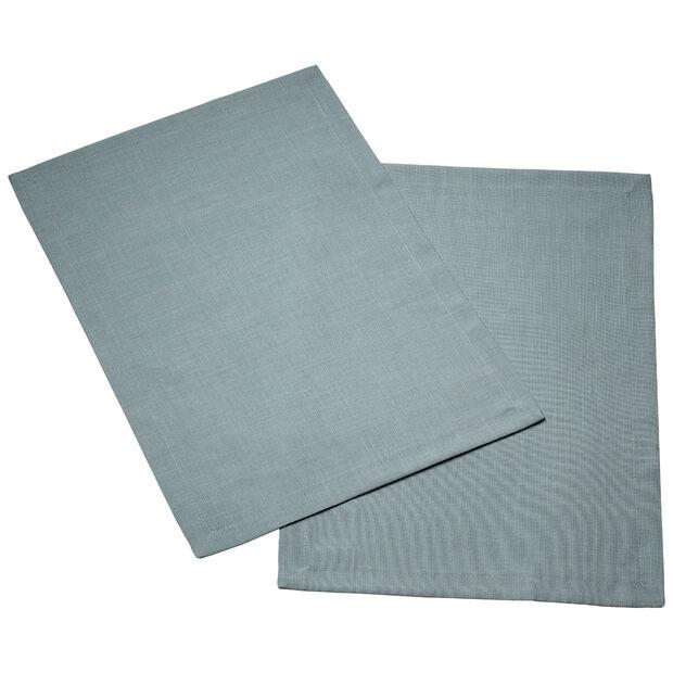 Textil Uni TREND Salvamanteles blue fox Set 2 35x50cm, , large