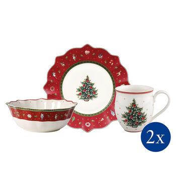 Toy's Delight Colazione per 2, rosso, set 6 pz. 36x25x14cm