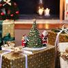 Christmas Toy's figura con motivo de Papá Noel junto al árbol de Navidad, verde/varios colores, 20 x 17 x 23 cm, , large