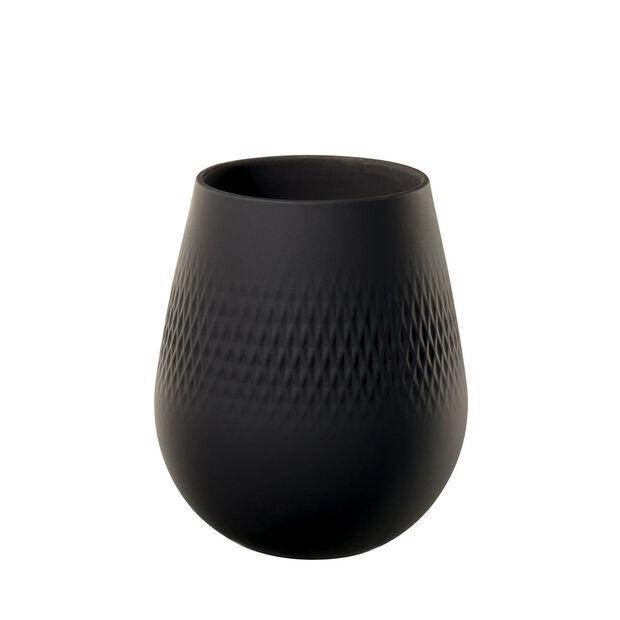 Manufacture Collier noir Vaso Carré piccolo 12,5x12,5x14cm, , large