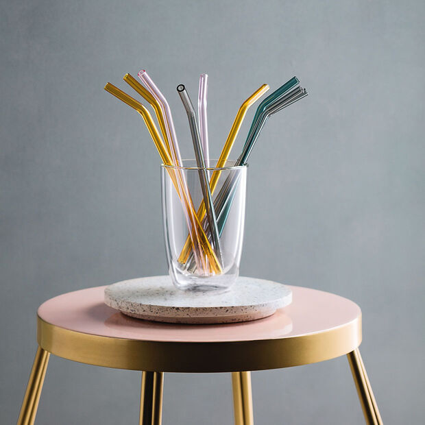 like.by Villeroy & Boch Artesano Hot&Cold Beverages Cannuccia di vetro set da 5 pz., , large