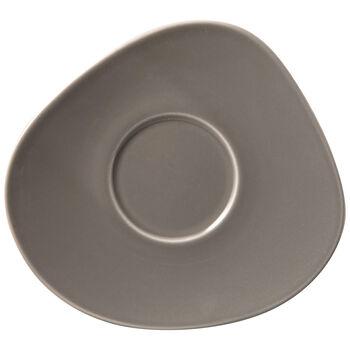 Organic Taupe platillo para taza de café, marrón topo, 17,5 x 16 x 2 cm
