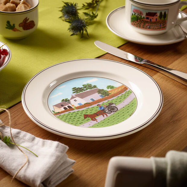 Design Naif plato de desayuno con motivo de granjero, , large