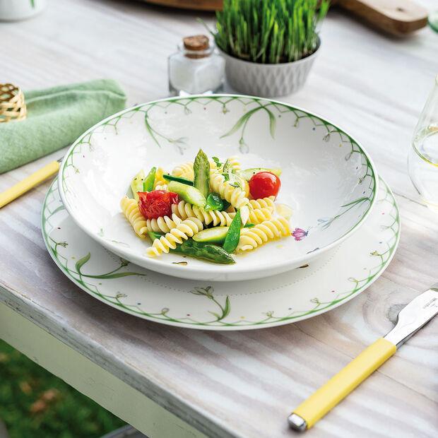 Colourful Spring insalatiera piana, 1,1 l, bianco/verde, , large