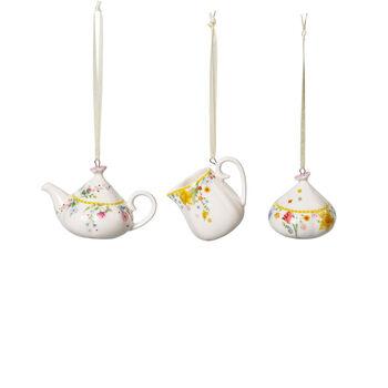 Spring Awakening Set da caffè da decorazione, 3 pezzi , giallo/multicolore