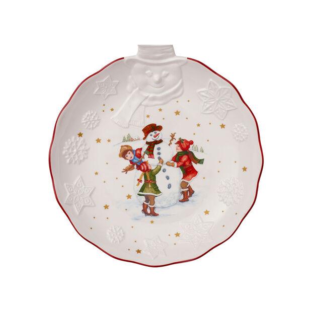 Toy's Fantasy fuente en relieve con motivo de muñeco de nieve, blanco/varios colores, 26 x 24,5 x 4,4cm, , large