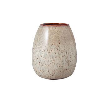 Lave Home jarrón Egg Shape, 14,5x14,5x17,5cm, beige