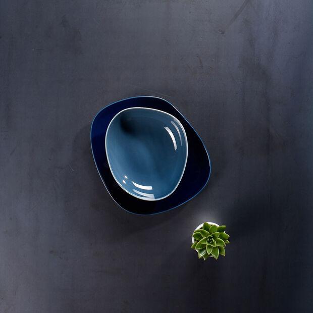 Organic Turquoise piatto fondo, turchese, 20 cm, , large