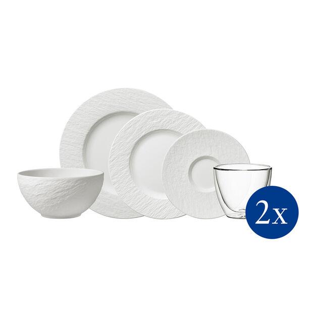 Manufacture Rock servizio da tavola, 10 pezzi, per 2 persone, bianco, , large