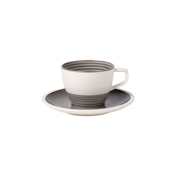 Manufacture gris Tazza caffè con piattino 2pz
