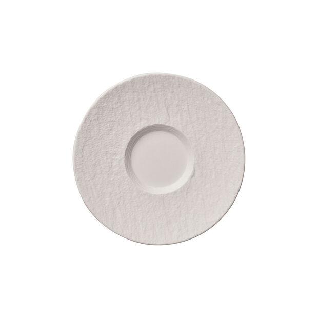 Manufacture Rock Blanc piattino per tazza da caffellatte, 17 cm, , large
