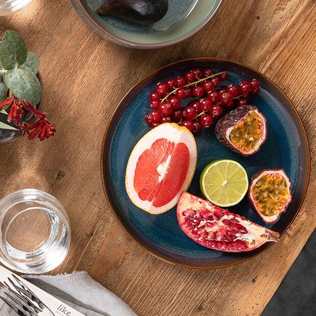 Crafted Denim piatto fondo, blu, 21,5 cm, , large