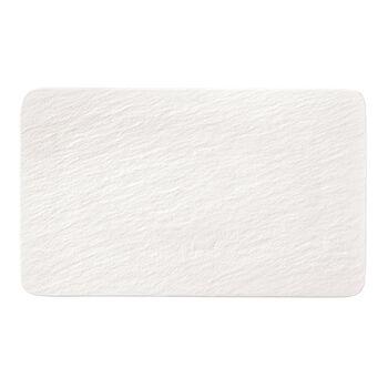 Manufacture Rock Blanc piatto multifunzione rettangolare, bianco, 28 x 17 x 1 cm
