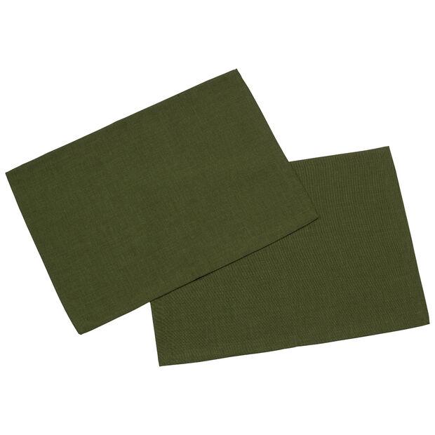 Textil Uni TREND Tovaglietta verde scu.2pz 35x50cm, , large