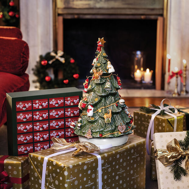 Christmas Toys Memory Calendario dell'Avvento 3D albero 25x32x43cm, , large