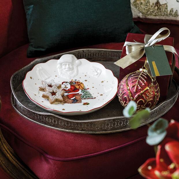 Toy's Fantasy fuente en relieve con motivo de Papá Noel, blanco/varios colores, 24 x 25 x 4,6 cm, , large