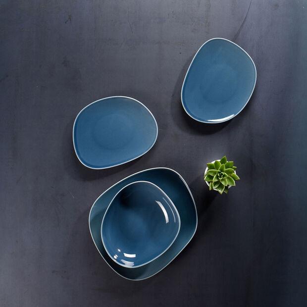 Organic Turquoise plato llano de 28 x 24 x 3 cm, , large