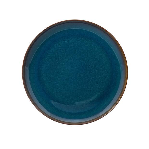 Crafted Denim piatto piano, blu, 26 cm, , large