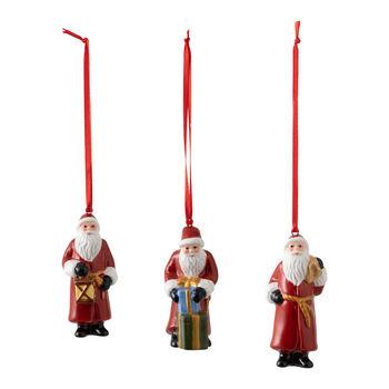 Nostalgic Ornaments set de ornamentos de Papá Noel, 8 x 3,5 cm, 3 artículos