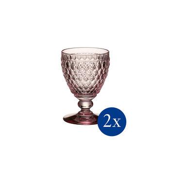 Boston coloured Copa vino blanco rose 2 pzs