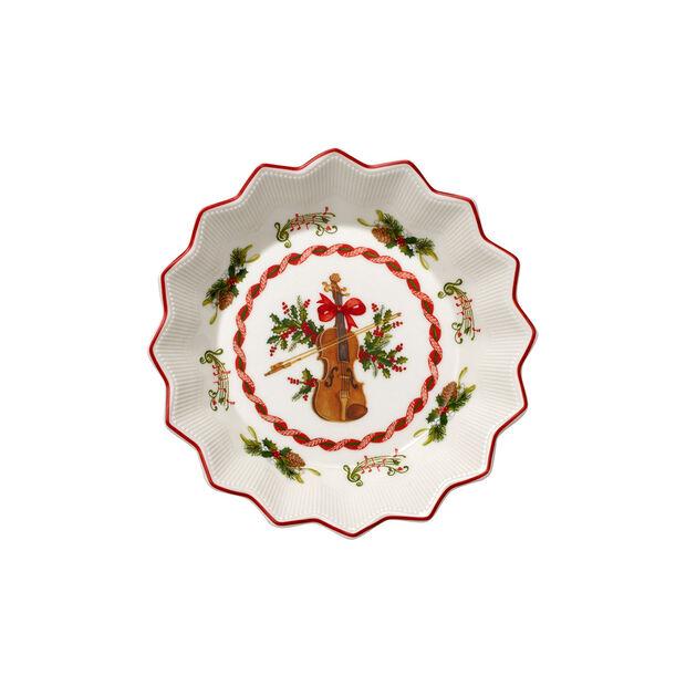 Toy's Fantasy ciotola piccola motivo violino, rosso/variopinto, 17 x 17 x 3 cm, , large