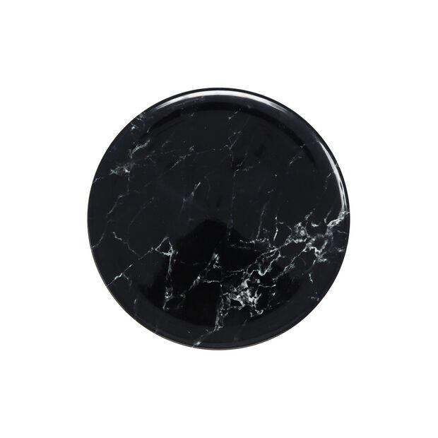Marmory plato de desayuno black 21 x 21 x 1,5 cm, , large