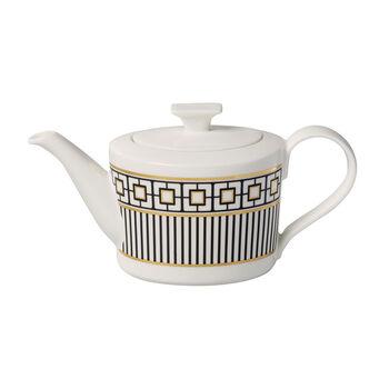 MetroChic bricco da caffè e teiera, 1,2 l, bianco-nero-oro