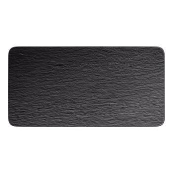 Manufacture Rock fuente rectangular para servir, negro/gris, 35 x 18 x 1 cm