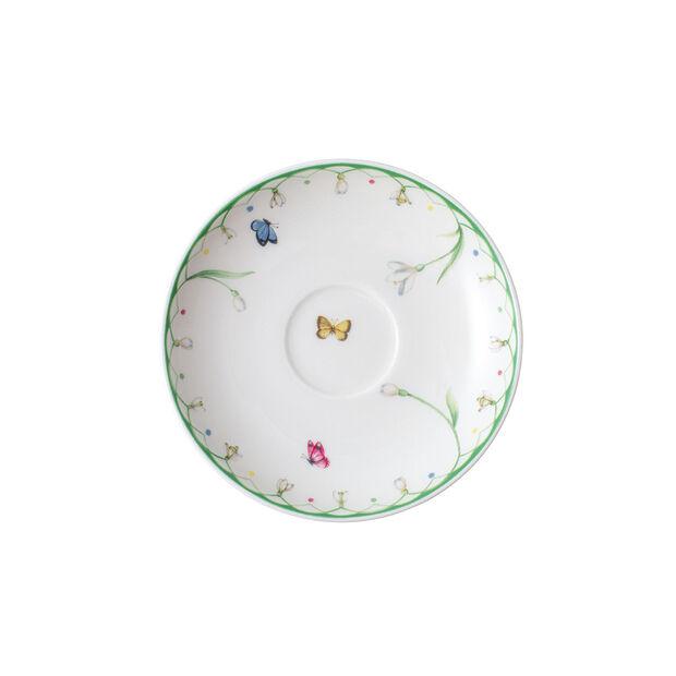 Colourful Spring platillo para taza de expreso, blanco/verde, , large