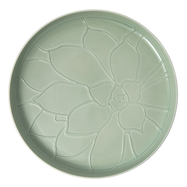 it's my home vassoio Socculent, 34 cm, verde/bianco, , large
