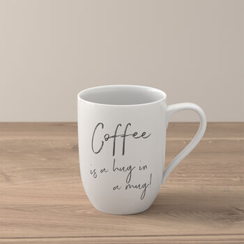 "Statement tazza ""Coffee is a hug in a mug"""