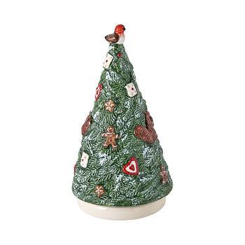 Nostalgic Melody figura giratoria de árbol de Navidad, 9 x 9 x 17 cm