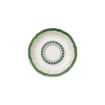 French Garden Green Line Piattino tazza colazione 17cm
