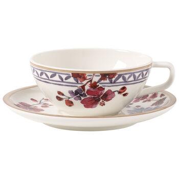 Artesano Provençal Lavanda Taza té con plato