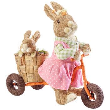 Spring Fantasy Accessories Coniglietti in bici 41x19x39cm