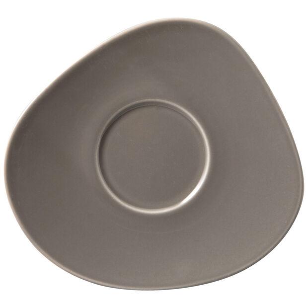 Organic Taupe piattino per tazza da caffè, tortora, 17,5 x 16 x 2 cm, , large