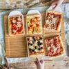 Piatto-vassoio da pizza con piatti porzione per 6 persone, , large