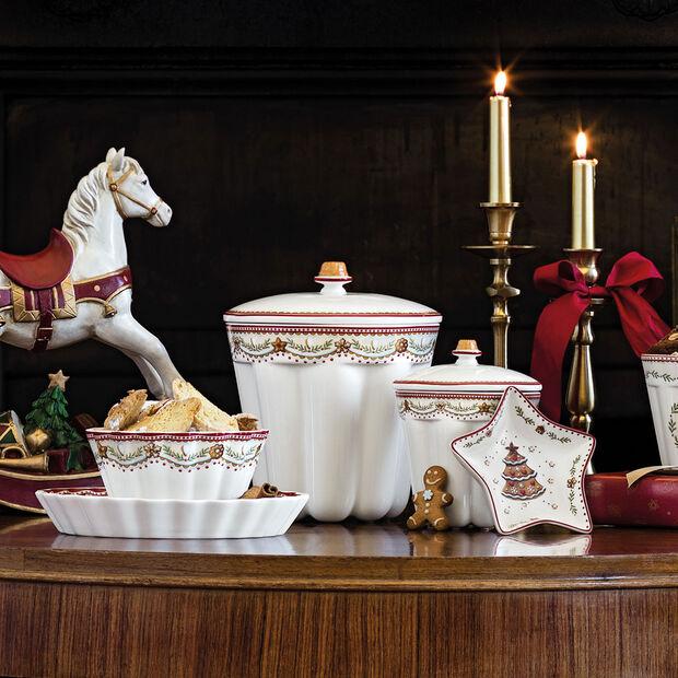 Winter Bakery Delight bol con motivos de pan de jengibre, rojo/varios colores, 630 ml, , large