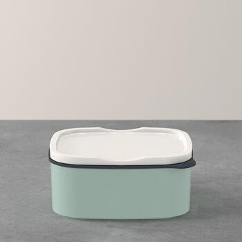 ToGo&ToStay porta pranzo, 13x10x6cm, quadrato, verde menta