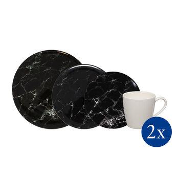 Marmory set combo Black, nero, 8 pezzi