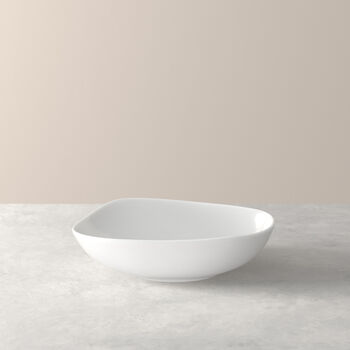 Organic White plato hondo, blanco, 20 cm