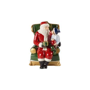 Christmas Toy's figura de Papá Noel en el sillón, varios colores, 10 x 10 x 15cm