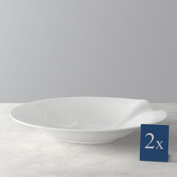 Pasta Passion Piatto per spaghetti Set 2 pezzi 30,7x26,3x5,7cm, , large