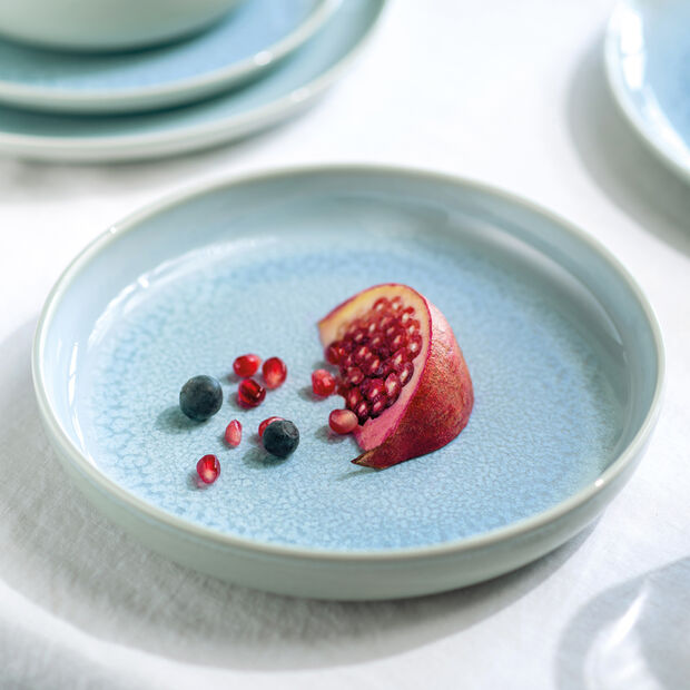 Crafted Blueberry plato hondo, turquesa, 21,5 cm, , large