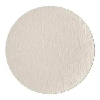 Manufacture Rock blanc Piatto gourmet 31,5x31,5x2,5cm