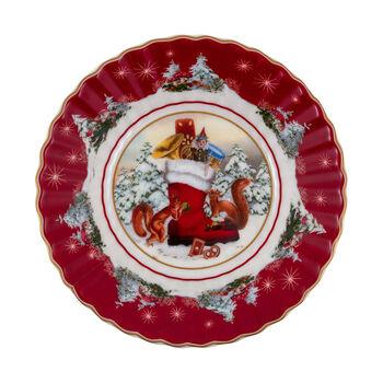 Toy's Fantasy fuente pequeña con motivo de bota, varios colores/rojo/blanco, 16 x 16 x 3 cm