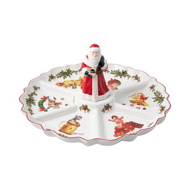 Toy's Fantasy plato dividido con motivo nostálgico, varios colores/rojo/blanco, 38 x 38 x 19 cm, , large