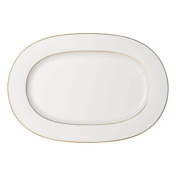 Anmut Gold piatto ovale, lunghezza 41 cm, bianco/oro