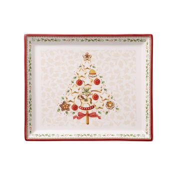 Winter Bakery Delight Piatto pasticceria rettangolare piccolo 27x22,5cm